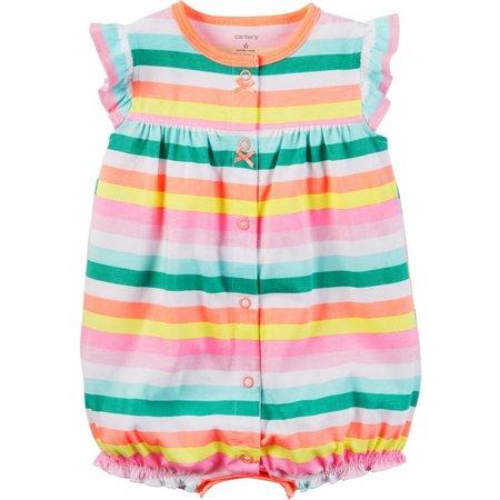 Carters Baby Girls Stripe Cupcake Romper