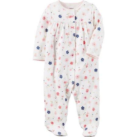Carters Baby Girls Flowers Sleep & Play