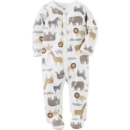 New! Carters Baby Boys Zoo Animal Sleep &