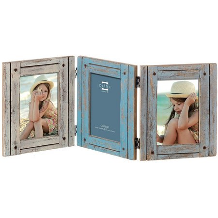 Prinz 3 Opening Hinged Distressed Collage Frame