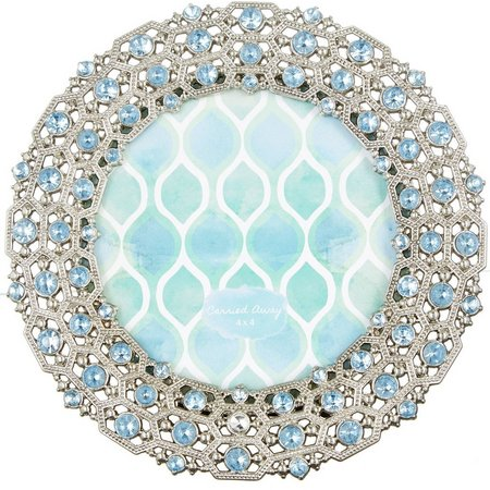 Sheffield Home 4'' x 4'' Silver Jewels Round