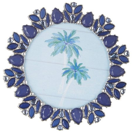 Enchante 4'' x 4'' Navy Blue Jeweled Photo