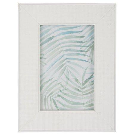 Enchante 4'' x 6'' White Textured Photo Frame