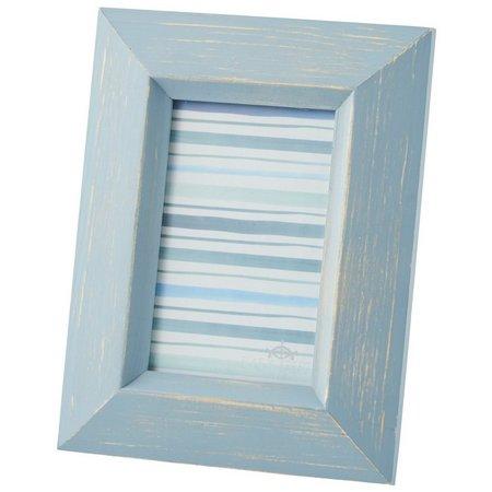 Enchante 4'' x 6'' Blue Distressed Wood Photo