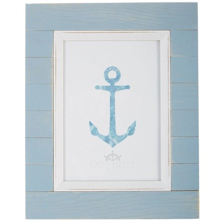 Enchante 5'' x 7'' Blue Shiplap Photo Frame