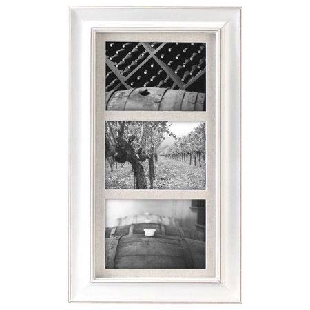 Malden 3 Opening Barnside White Wall Frame