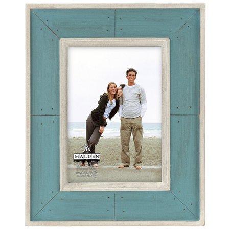 Malden 5'' x 7'' Sunwashed Woods Turquoise Frame