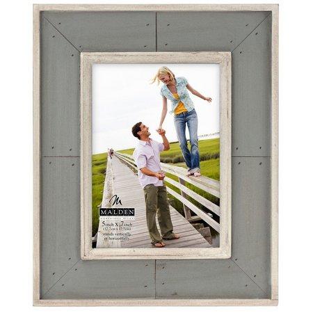 Malden 5'' x 7'' Sunwashed Woods Grey Frame