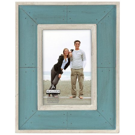 Malden 4'' x 6'' Sunwashed Woods Turquoise Frame