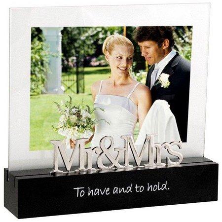 Malden 4'' x 6'' Mr&Mrs Desktop Expressions Frame