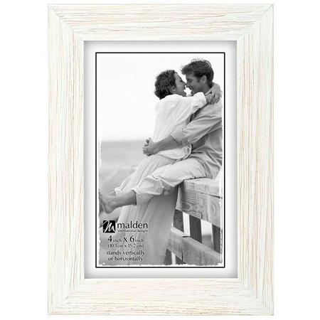 Malden 4'' x 6'' White Wash Photo Frame