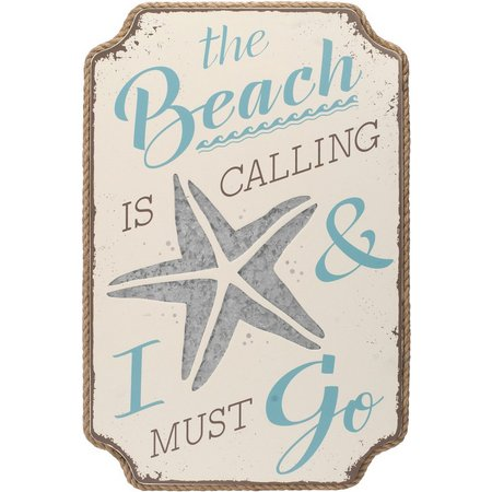 Malden The Beach Is Calling Wall Sign
