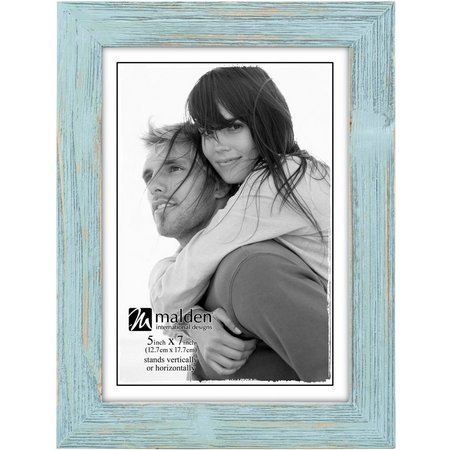 Malden 5'' x 7'' Seafoam Distressed Photo Frame