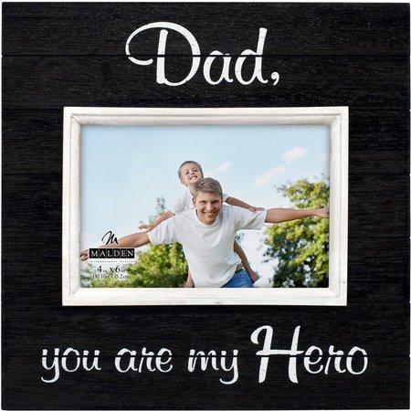 Malden 4'' x 6'' Dad Hero Photo Frame