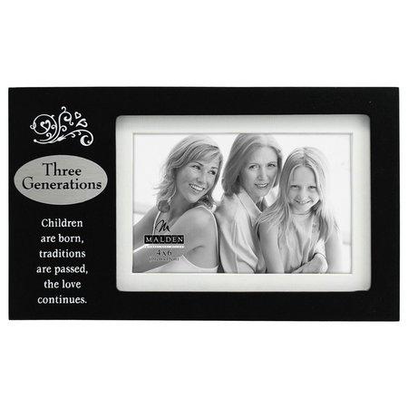 Malden 4'' x 6'' Three Generation Frame