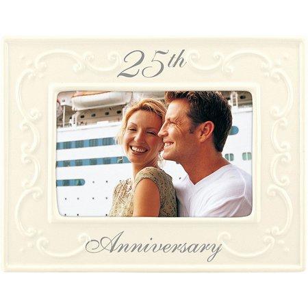 Malden 4'' x 6'' 25th Anniversary White Frame