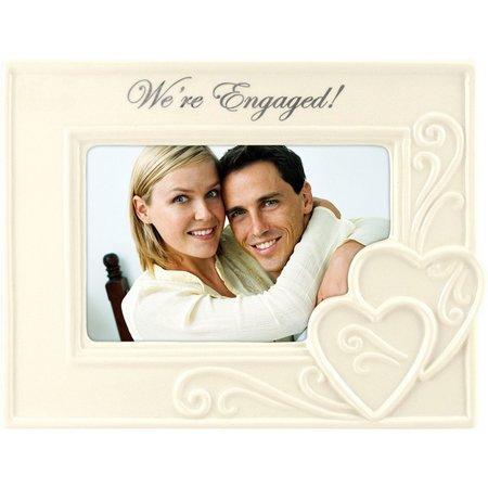 Malden 4'' x 6'' We're Engaged Ceramic Frame
