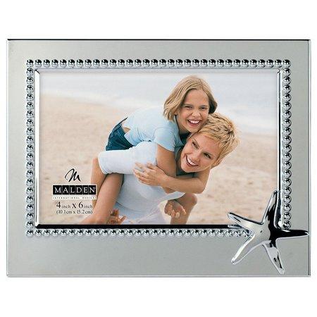 Malden 4'' x 6'' Starfish Beaded Metal Frame