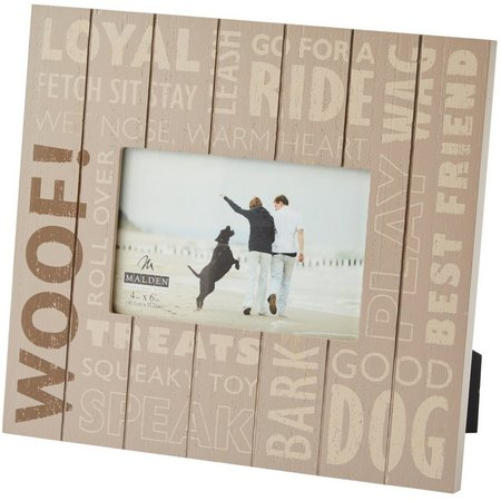Malden 4'' x 6'' Woof! Photo Frame