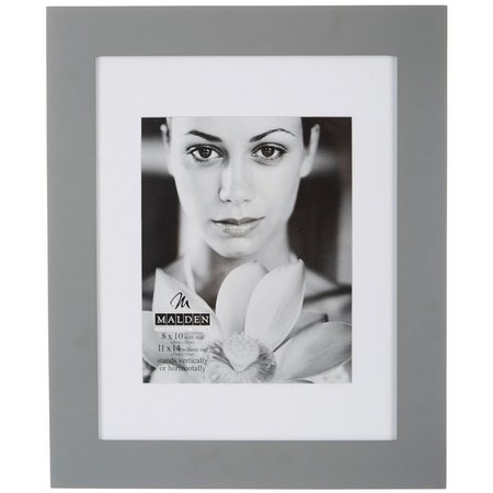 Malden 11'' x 14'' Grey Manhattan Wall Frame