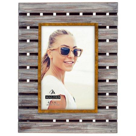 Malden 4'' x 6'' Plank Wood Photo Frame
