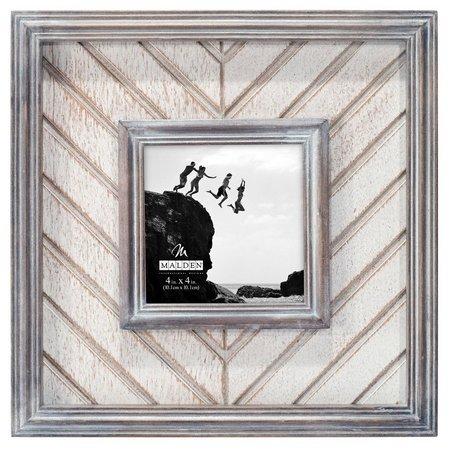 New! Malden 4'' x 4'' Herringbone Photo Frame