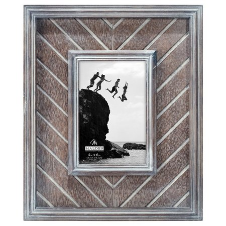 New! Malden 4'' x 6'' Herringbone Photo Frame