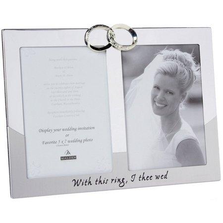 Malden 5'' x 7'' Two Opening Wedding Rings