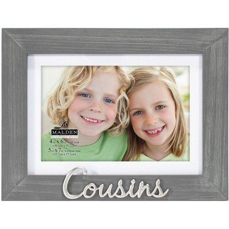 Malden 4'' x 6'' Cousins Photo Frame