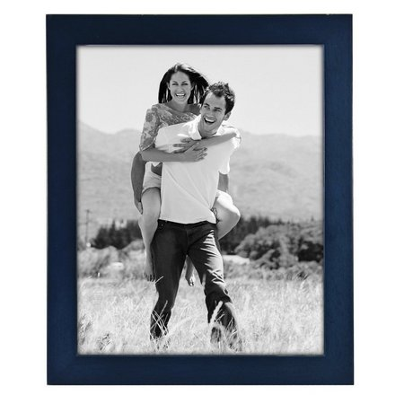 Malden 8'' x 10'' Linear Wood Blue Frame