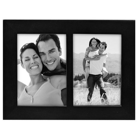 Malden 3.5'' x 5'' Split Double Black Frame