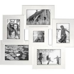 Malden 6 Opening White Collage Frame
