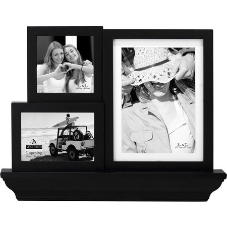 Malden 3 Opening Black Irregular Collage Frame