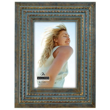 Malden 4'' x 6'' Blue Gold Rustic Photo