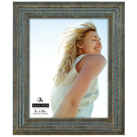 Malden 8'' x 10'' Blue Gold Photo Frame