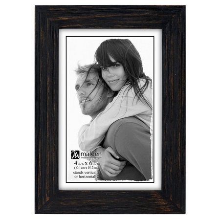 Malden 4'' x 6'' Black Distressed Photo Frame