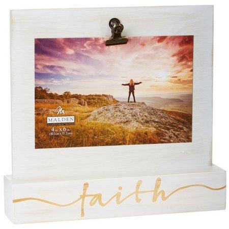 Malden 4'' x 6'' Faith Clip Photo Holder