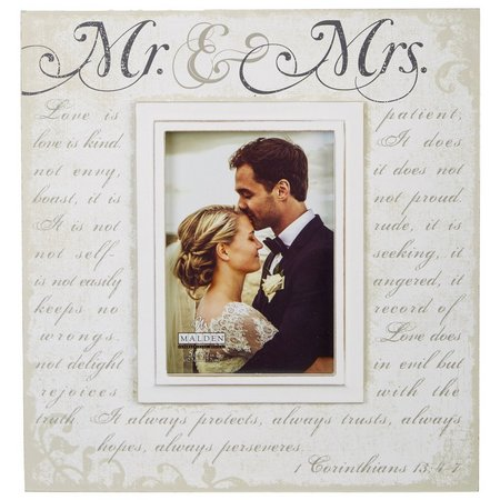 Malden 5'' x 7'' Mr. & Mrs. Script