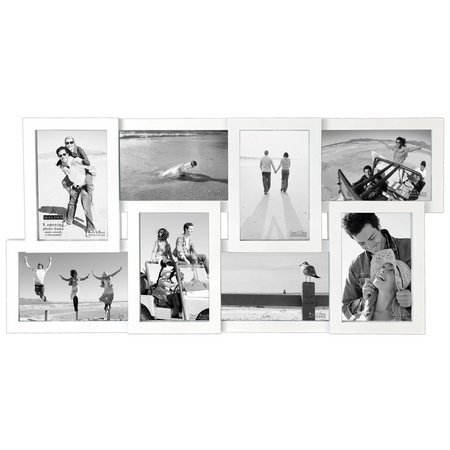 Malden 8 Opening White Collage Wall Frame