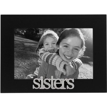 Malden 4'' x 6'' Sisters Black Wood Frame