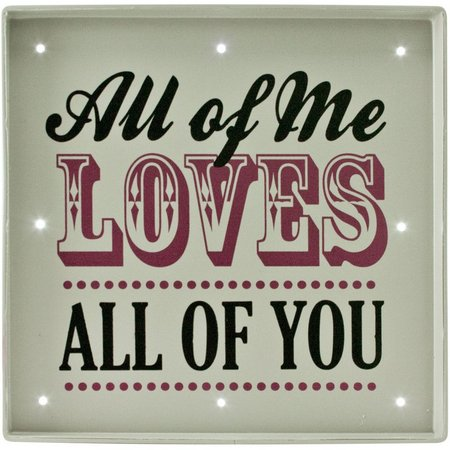 Fetco 9'' x 9'' All of Me Loves