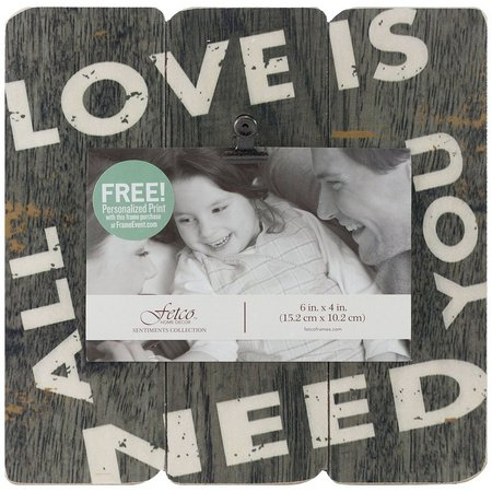 Fetco Love Is All You Need Photo Frame