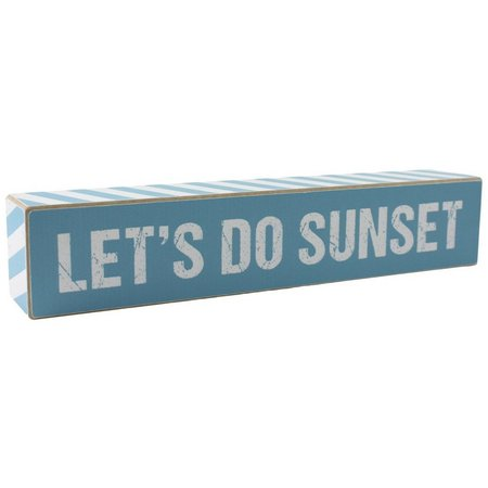 Fetco Let's Do Sunset Box Sign