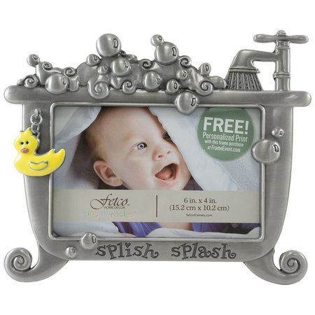 Fetco 6'' x 4'' Splish Splash Bathtime Photo