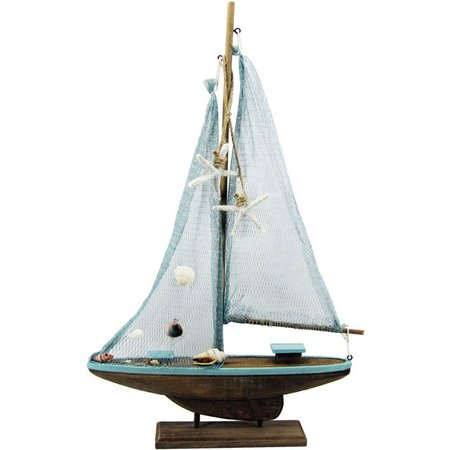 JD Yeatts Saiboat with Net Tabletop Decoration