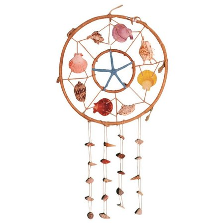JD Yeatts Rattan Seashell Dreamcatcher