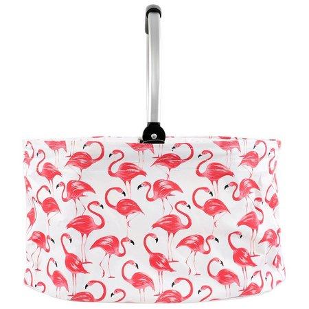 Dennis East Flamingo Basket Tote