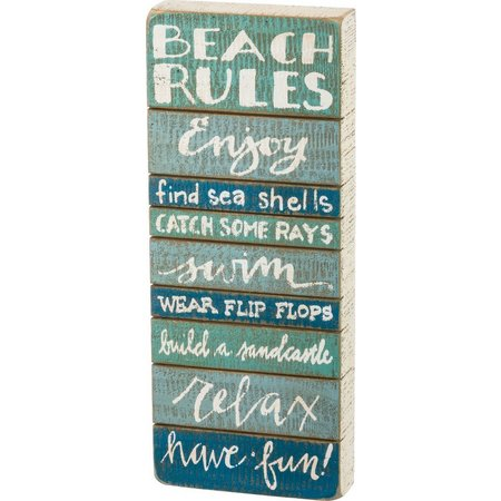 Primitives By Kathy Beach Rules Sign