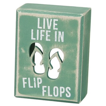Primitives By Kathy Live in Flip Flops Box