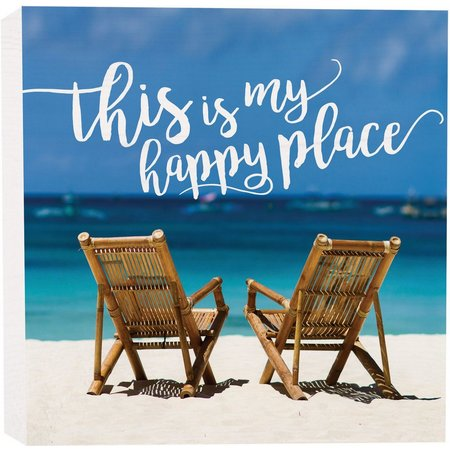 P. Graham Dunn My Happy Place Box Sign